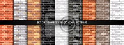 Fototapeta Vector brick wall set