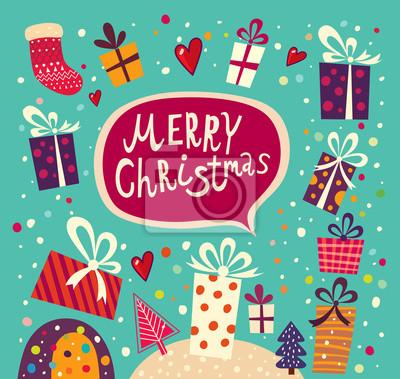 Vector Christmas karty z pudełka