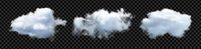 Fototapeta Vector clouds. Realistic fluffy cloud isolated set