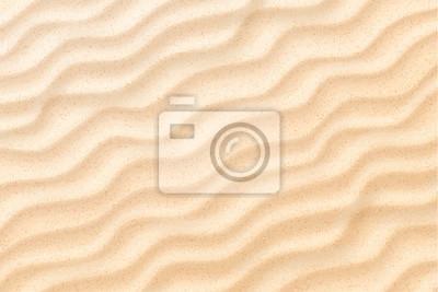 Fototapeta Vector coastal beach sand waves, dunes background