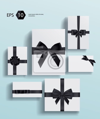 Vector collection gift wrapping