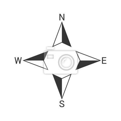 Fototapeta Vector Compass icon.