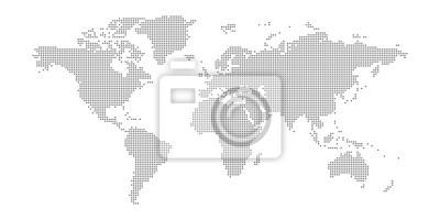 Fototapeta Vector dotted world map.