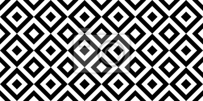 Vector geometric seamless pattern with rhombuses. Monochrome stylish texture.