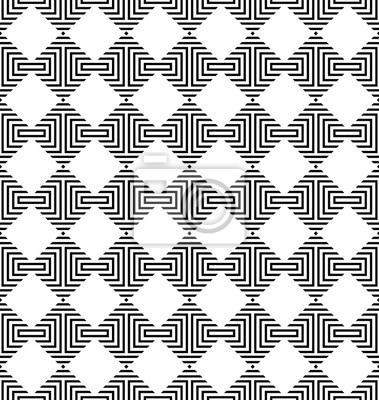 Vector geometric seamless pattern with rhombuses. Stylish striped texture.