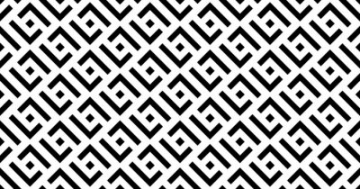 Vector geometric seamless pattern with squares. Monochrome stylish texture.