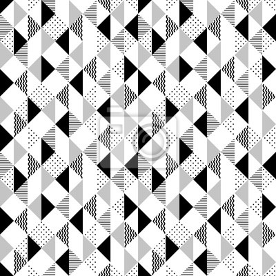 Vector geometric seamless pattern with triangles. Modern stylish background.