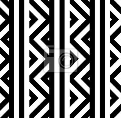 Vector geometric striped seamless pattern with triangles. Modern zigzag texture.