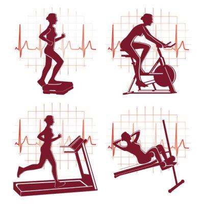 Fototapeta Vector icons ćwiczenia Gym