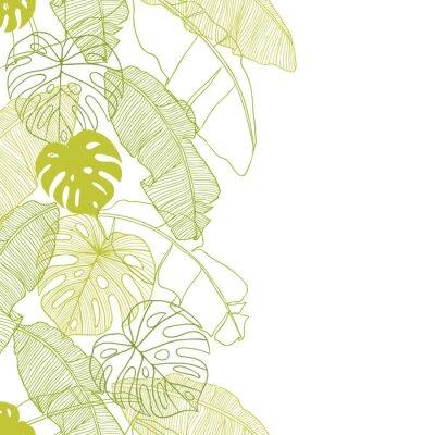 Fototapeta Vector ilustracji liści palmy. Szwu.