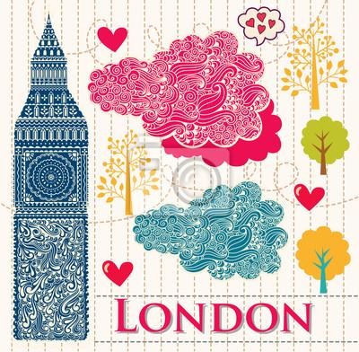 Vector ilustracji z Big Ben w Londynie