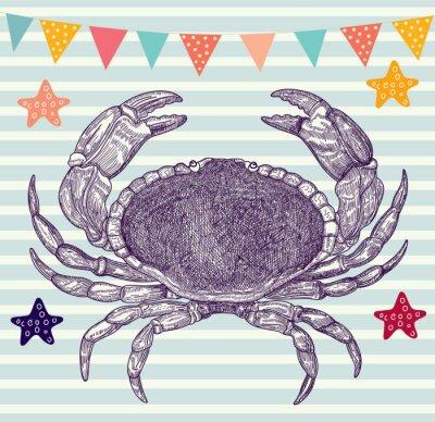 Vector ilustracji z krabów