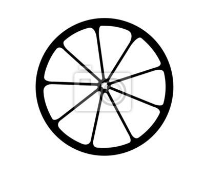 Vector ilustracji z logo monochromatyczne cytrusów.