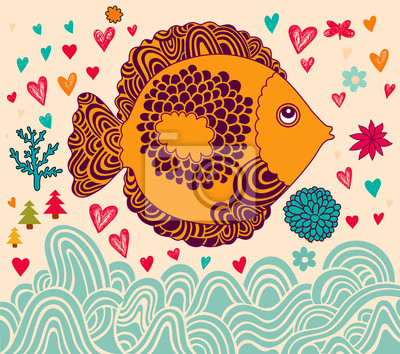 Vector ilustracji z ryb