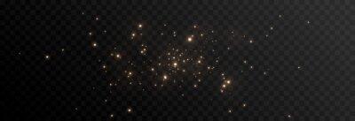 Fototapeta Vector magic glow. Sparkling light, sparkle dust png. Sparkling magical dust. Christmas light.
