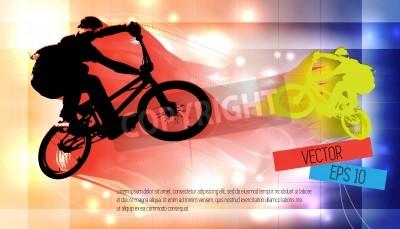 Fototapeta Vector obraz BMX rowerzysta