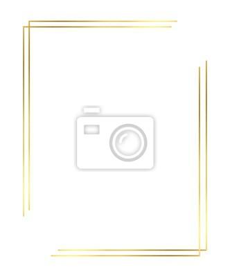Fototapeta Vector of Christmas Simple Gold border