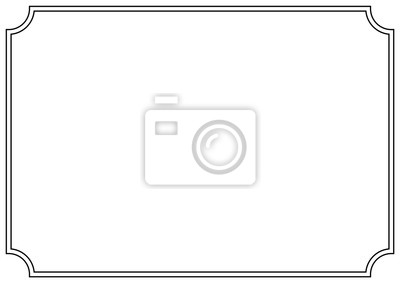 Fototapeta Vector Page border A4 design for project.