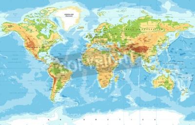 Fototapeta Vector Physical World Map