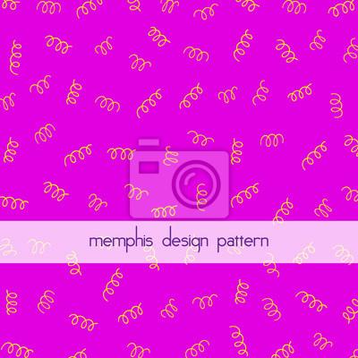 Vector prostym tle z memphis stylu deseń. Ramki do projektowania. Plakat, sztandar, ulotka, element reklamowy. Różowe i żółte. Ręcznie rysowane proste elementy.