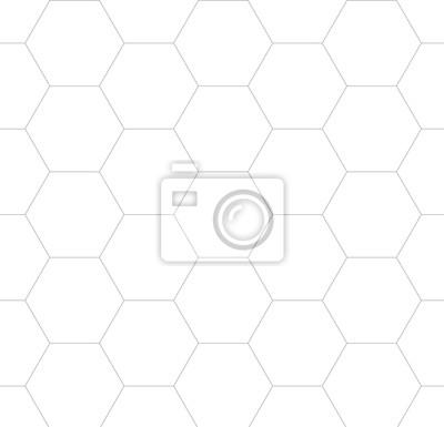Vector seamless cubic hexagon pattern. Modern stylish thin linear texture.