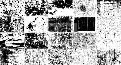 Fototapeta Vector Set Grunge Design Elements. Black And White Noise. Overlay Grainy Texture. Illustration, Eps 10.