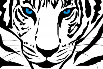 Fototapeta Vector sylwetka tygrysa.
