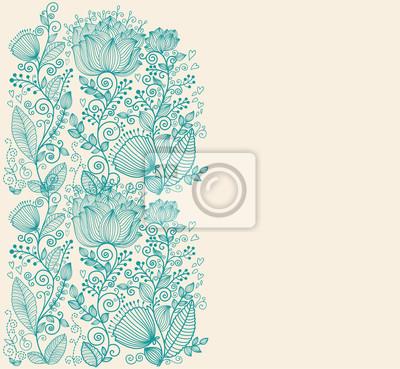 Fototapeta Vector tle kwiatów