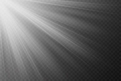 Fototapeta Vector transparent sunlight special lens flash light effect.front sun lens flash. Vector blur in the light of radiance