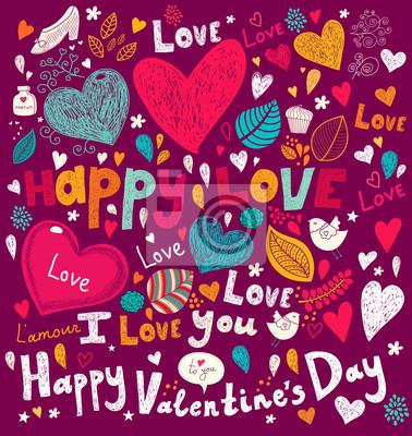 Vector Valentine życzeniami