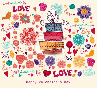 Fototapeta Vector Valentine życzeniami