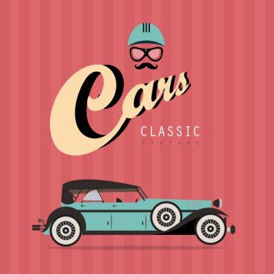 Vector vintage klasyczny samochód