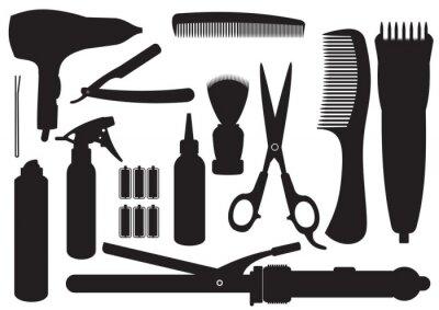 Fototapeta Vector Zestaw fryzjerskie