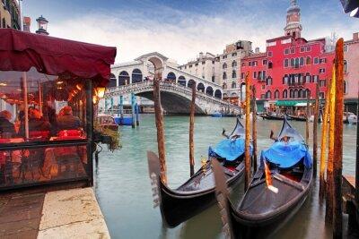 Fototapeta Venice Grand Canal and gondola