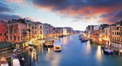 Fototapeta Venice - Grand canal from Rialto bridge