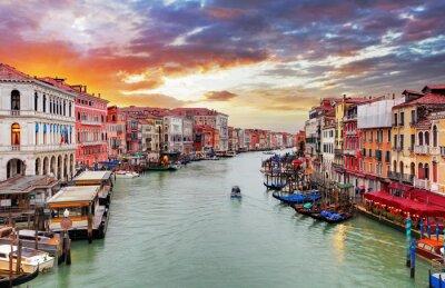 Fototapeta Venice - Rialto bridge and Grand Canal