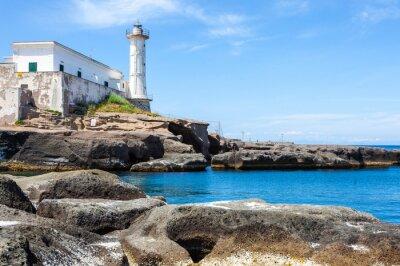 Fototapeta Ventotene Lighthouse, Włochy.