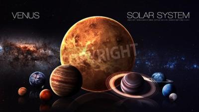 Fototapeta Venus - rozdzielczości 5K Infografika przedstawia jeden z planety systemu słonecznego.