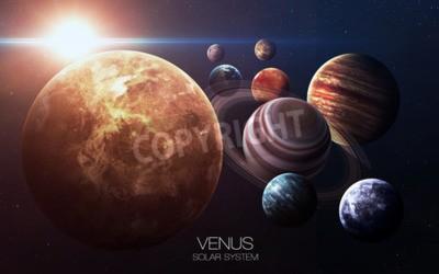 Fototapeta Venus - zdjęcia wysokiej rozdzielczości prezentuje planety Układu Słonecznego.