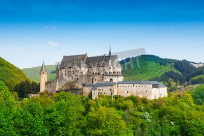 Fototapeta Vianden Luxembourg mountains and forests