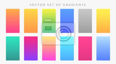 Fototapeta vibrant colorful gradients swatches set