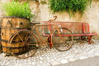Fototapeta Vieux vélo rouillé