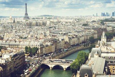 Fototapeta View on  Paris, France
