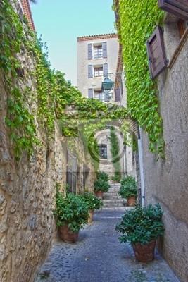 Village of Saint-Paul de Vence, południowej Francji