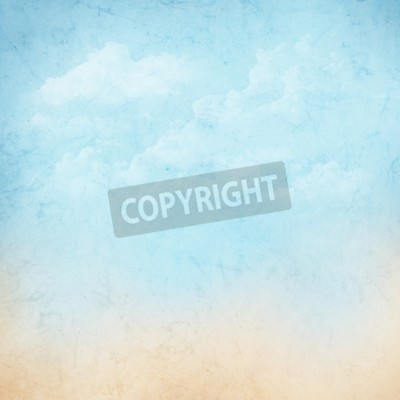 Fototapeta Vintage abstrakcyjny charakter niebo z chmurami w tle