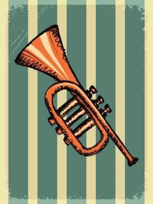 Fototapeta vintage background with music instrument