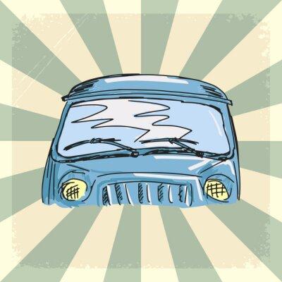 Fototapeta vintage background with old car