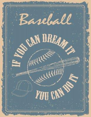 Fototapeta Vintage baseball poster