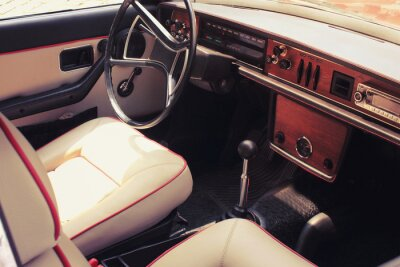 Fototapeta Vintage car dashboard  (fragment)