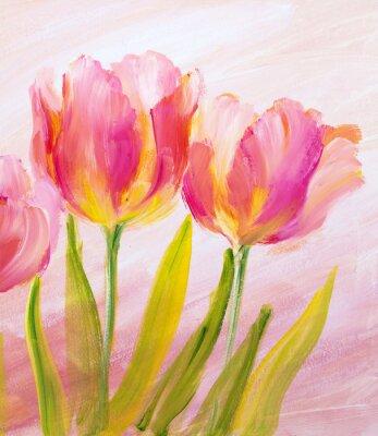 Fototapeta Vintage czerwone tulipany.